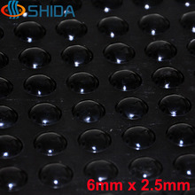 2000PCS 6*2.5mm Self Adhesive Soft and Black Anti Slip Rounded Bumpers Silicone Rubber Feet Pads Sticky Silicone Shock Absorber(China)