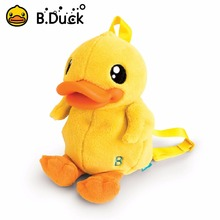 B.duck New cute cartoon kids plush backpack toy mini school bag Children's gifts kindergarten boy girl baby student bags(China)