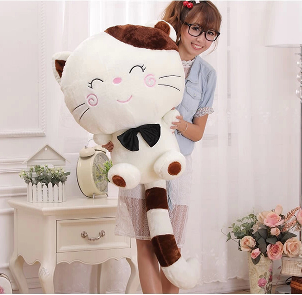 Big face cat plush toys Cute cat doll Rice ball cat doll big tail Birthday girl<br><br>Aliexpress