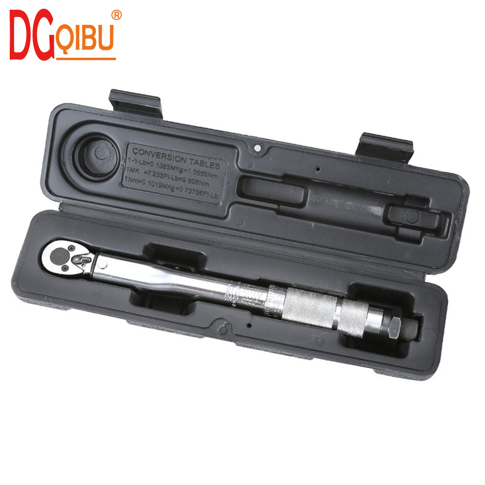 1//4 inch 5-25Nm Adjustable Square Torque Wrench Hand Spanner Tool With Case