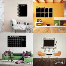207 Calendar Chalkboard Wall Stickers Environmental  Vinyl Removable Blackboard Decoration Office Wall Stickers Free Shipping