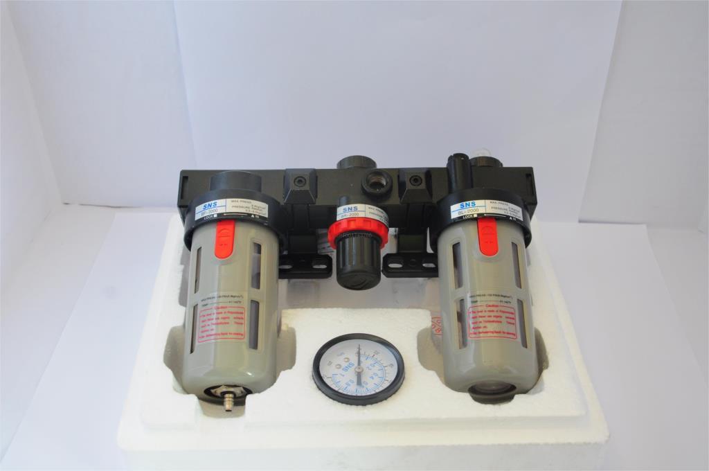 SNS Pneumatic FRL air source processor BC2000 1/4BSPT oil mist separator filter regulator Airtac Type<br>