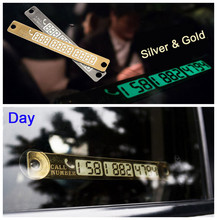 Car Luminous Phone Number Parking Card For Opel Astra H G J Insignia Mokka Toyota Avensis Rav4 Ford Focus 2 3 Fiesta Accessories(China)