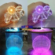 Crystal Ends 50pcs/lot for End-glow Fiber Cable Light Decoration Diameter 16MM/20MM/30MM for 0.75mm 1.0mm 1.5mm Fiber Cable