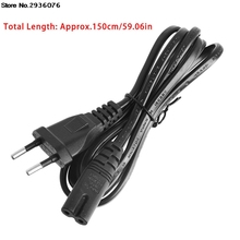Short C7 To EU 2-Pin Plug AC Power Cable Lead Cord 1.5M 5Ft Figure 8(China)
