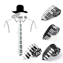 2inch wide Fashionable 6 Piano Key Music Note Mix Necktie Polyester Woven Classic Men`s Male Party Wedding tie Wholesale&Retail