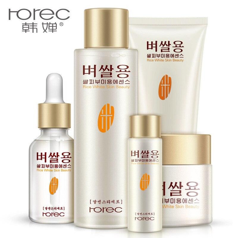 BIOAQUA Rice Tender Skin Moisturizing Skin Care Set Moisturizing Facial Brightens The Complexion * 5Pieces<br>