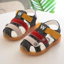 Boys Sandals New Arrival Summer Leather Toddler Fashion Girls Sandals Shoes Child Beach Causal Kids Shoes Flat