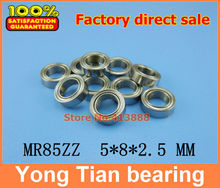 Free Shipping 10 PCS MR85ZZ ABEC-5 5X8X2.5 mm Deep groove Ball Bearings MR85 / L-850 ZZ