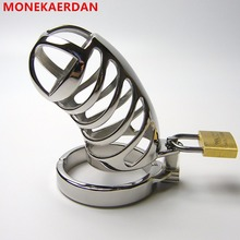 Buy Stainless Steel Metal Cock Rings Penis Cage Scrotum Bondage Slave Male Chastity Device , Fetish Sex Toys Men