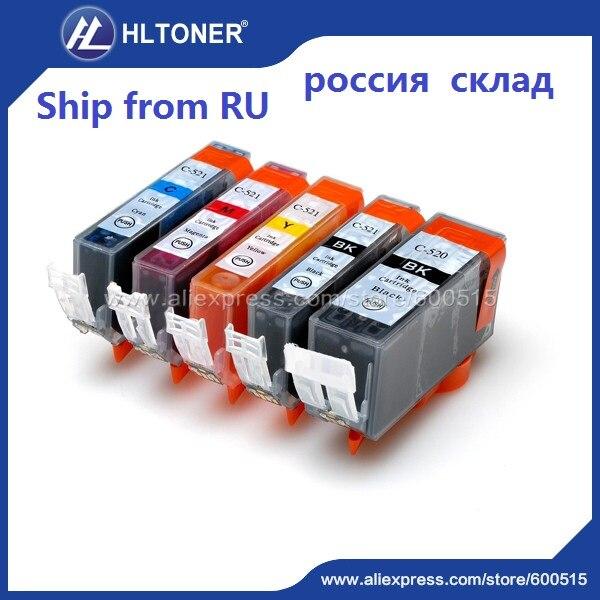 5pcs Compatible ink cartridge PGI-520 CLI-521 PGI520 CLI521 for PIXMA IP3600 IP4600 IP4700 MX860 MX870 MP540 MP550 MP560 <br><br>Aliexpress