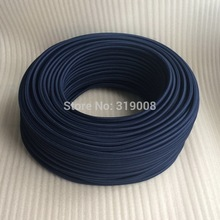 Colorful cord 2 core 0.75mm textile woven cloth covered electric wire