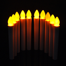 10Pcs Householed Smokeless Flameless AAA LED light Electronic Candles Lamp For Birthday Wedding Party Church Home Xmas Decor