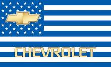 CHEVROLET CHEVY logo emblem US Stars and Stripes outdoor Flag 3ft x 5ft