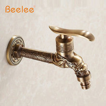 Antique Bronze Dragon Carved Tap Animal Shape Faucet Garden Bibcock Washing Machine Faucet Outdoor Faucet For Garden BL7663A