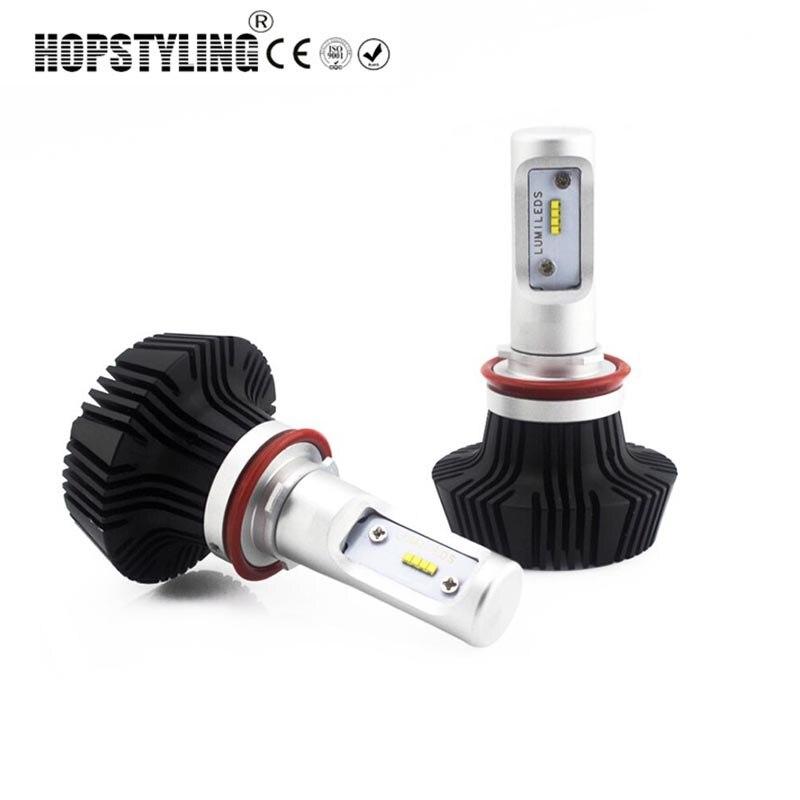 car-styling H4 H7 Car LED Headlight Headlamp bulbs 80W 8000LM Car lighting