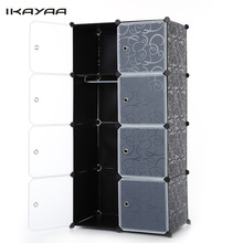 iKayaa US Stock Brand Fashion Multi-use Clothes Closet Wardrobe Cabinet DIY Cloth Shoes Storage Organizer Living Room Furniture(China)