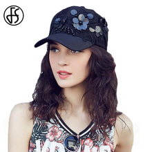 FS Black Champagne Casual Sequins Baseball Cap For Women Caps Fashion Summer Sun Hat Snapback Baseball Hats Adjustable(China)