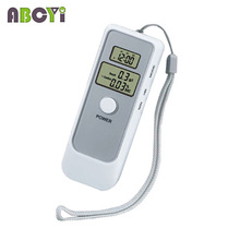 10pcs/lot Dual LCD Display Digital Alcohol Tester and Timer Analyzer Breathalyzer Detector with Clock for Alcohol Level Testing(China)