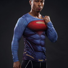 Mens Football Jerseys Compression 3D T Shirts Breathable Superhero Fitness Tee Shirts Tops Spiderman Tights(China)