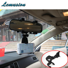 1Pc Car rearview mirror mobile phone stand Adjustable Navigation bracket for Honda civic fit Toyota corolla Audi a4 b6 a3 a6 c5(China)