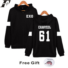 LUCKYFRIDAYF Kpop EXO Hooded Sweatshirt Women Korean Popular Hip Hop Winter Coat Fashion Women Hoodies Sweatshirts Casual Clothe