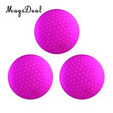 3 Pieces Glow In Dark Rose Red LED Light Up Golf Ball Official Size Weight for Night Golfing(China)