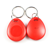 100pcs T5577 RFID hotel key fobs 125KHz keychain rewritable readable and writable proximity ABS tags access control