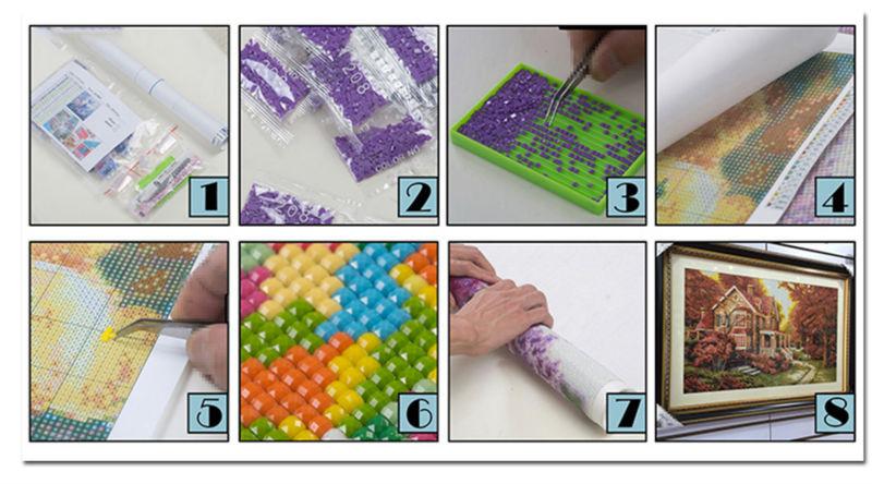 Как сделать алмазную вышивку самому в домашних условиях 59