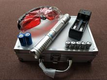 Super Powerful Blue laser pointer 60000mw/60W 450nm burning match balloon dry wood/black/cigarettes+charger+glasses+gift bo