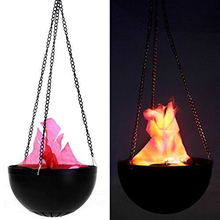 Halloween Electronic Magic Hanging Flame Simulation Lamp Halloween Party bar Decorative Brazier Fire Lamp Halloween Supply(China)