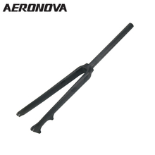 AERONOVA Bike 700C Carbon Fork Cycling Bike Parts Road Bicycle Forks 3K Matte Light Weight Black 28.6mm Disc Brake Carbon Forks