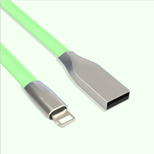 CloudTech New 3D Zinc Alloy USB Cable For iPhone 6 6S Charger Power Cord for iPhone 5 5s SE iPad 4 iphone6 8 Pin Adapter Wire