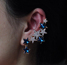 Hot Selling 2015 Summer More Discounts Luxury Elegant Crystal Star Stud Earrings Brincos Aretes Perfume for Women Bijuterias(China)