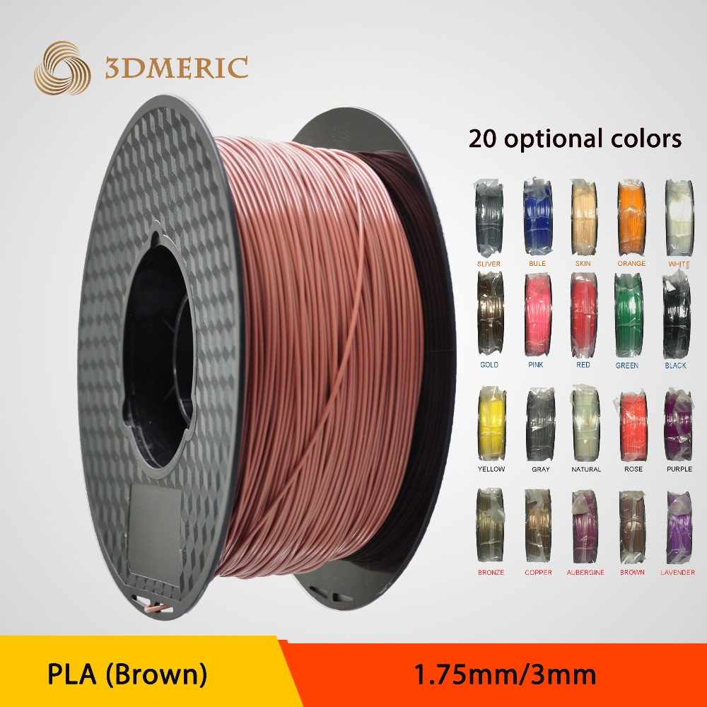 1.75mm brown PLA 3D Printer supplier plastic rubber consumable material -1kg Spool<br>