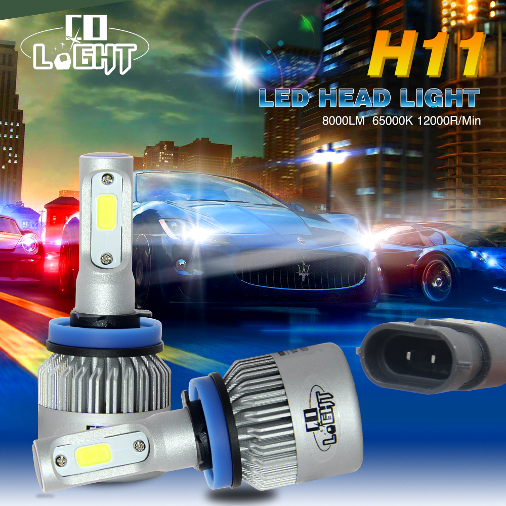 H4 LED Headlight Kit Hi Lo Beam Car Head Lamp COB Chips Fog Light Pure White 6500k Led Light Car All-in-one Auto Headlight Bulbs(China (Mainland))