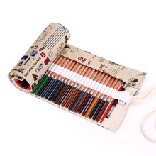 2017 Papeleria 36/48/72 Portable School Stationery Lovely Handmade Boxes Estojo Canvas Bags Pen Curtain Roll Pencil Ballpoint