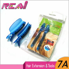 Free Shipping( 2 Pieces/Bag ) Blue Color Plastic Easy Speed Separator Clips Section Clips For Hair Extensions Installation(China)