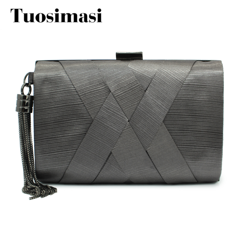grey color lady handbag cluth bag  ladies party bag satin bags new design hot selling women chain bags(C070)<br>