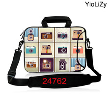 camera print 10 12 13.3 14.1 15.6 17.3 inch Laptop sleeve With strap Notebook shoulder Bag PC Messenger cover briefcase SB-24762