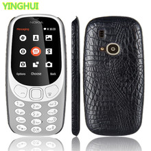 For Nokia 3310 Case Nokia 3310 phone bag case Luxury Crocodile Skin PU Protective Case Cover For Nokia 3310 2017