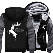 US Size Game of Thrones Ours is the Fury House Baratheon of Storm's End Men's Hoodies Sweatshirts Outwear Polo Hoody Sportwear(China)