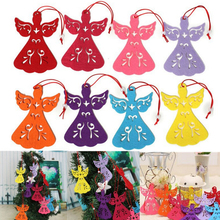 MENGXIANG 1pc Christmas Angel hollow Exquisite pendant hanging ornaments wholesale Christmas tree decoration 11*7.5cm