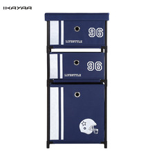 iKayaa US UK FR DE Stock Wardrobe Organizer Closet Storge Box 3-Drawer Home Office Cabinet Organizer for Clothes Toys(China)