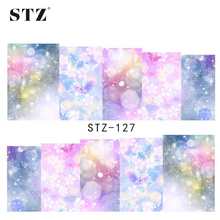 STZ 1sheets Beauty Dream Full Cover Stickers Nail Art Tips Water Transfer Decorations Nail Decals Manicure Accessory STZ127