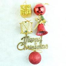 New Arrival 32pcs Christmas Ornaments Balls Drums Baubles Xmas Tree Pendant Home Merry Christmas Party Decoration Bells