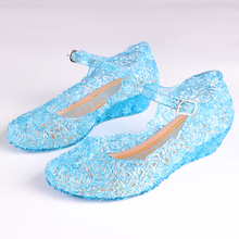 Children Girl Sandals Jelly Princess Dress Up Cosplay Kids Shoes Girls Mary Jane Shoes For Stage Dancing Show 25-35 High Quality(China)