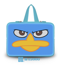 "Netbook Handle Hidden Soft Tote New Light Blue Series Neoprene Angry Duck Type10""13""14""15""17""Computer Grip Handbag For Toshiba"