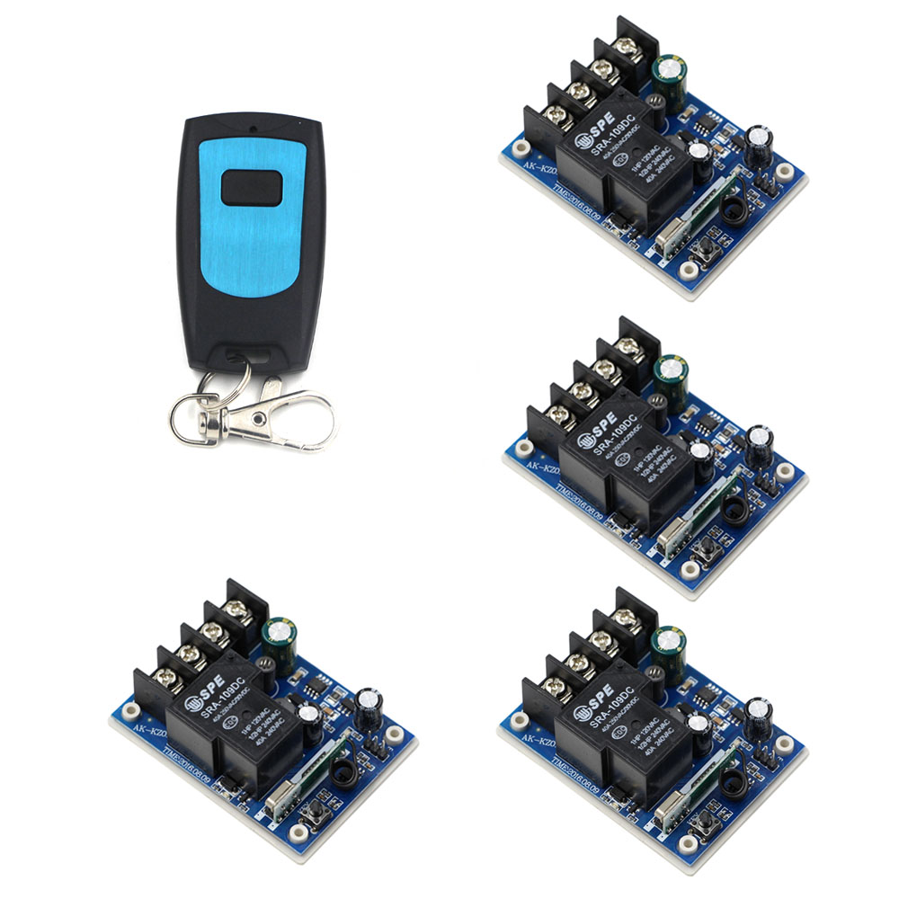DC 12V-48V 1CH Wireless Relay Wireless Remote Control Switch System 40A Receiver &amp; Waterproof Transmitter <br>