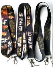 Hot Wholesale Lot 30pcs Mixed Star Wars Cartoon Mobile Cell Phone Lanyard Neck Straps Party Gifts C-68(China)